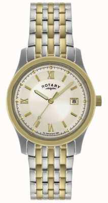 Rotary Męski dwukolorowy zegarek ze stali GBI0793/09