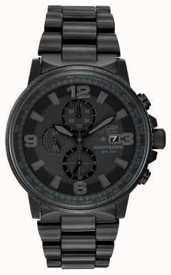 Citizen Męski monochromatyczny zegarek Nighthawk z napędem ekologicznym CA0295-58E
