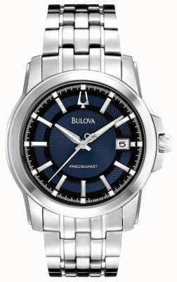 Bulova Męski precyzyjny niebiesko-srebrny zegarek 96B159