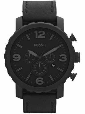 Fossil Zegarek męski czarny chronograf x-large JR1354