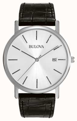 Bulova Męska sukienka srebrno-czarna 96B104