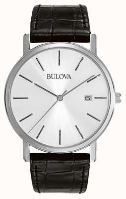 Bulova Sukienka męska srebrno-czarna minimalistyczna 96B104