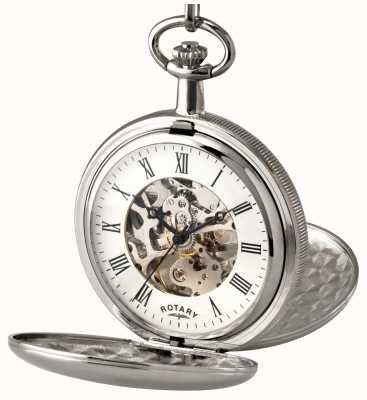 Rotary Zegarek kieszonkowy ze stali szlachetnej Gent MP00726/01