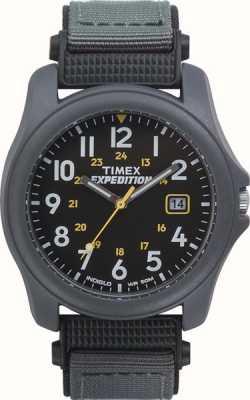 Timex Męski wyprawka z czarnym, nylonowym paskiem T42571
