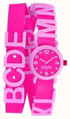 Moschino Damski wibrujący różowy zegarek MW0327