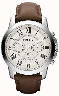 Fossil Męski skórzany pasek chronograf FS4735