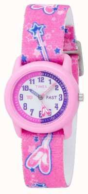 Timex Dziecięcy różowy pasek analogowy do zegarka baleriny T7B151