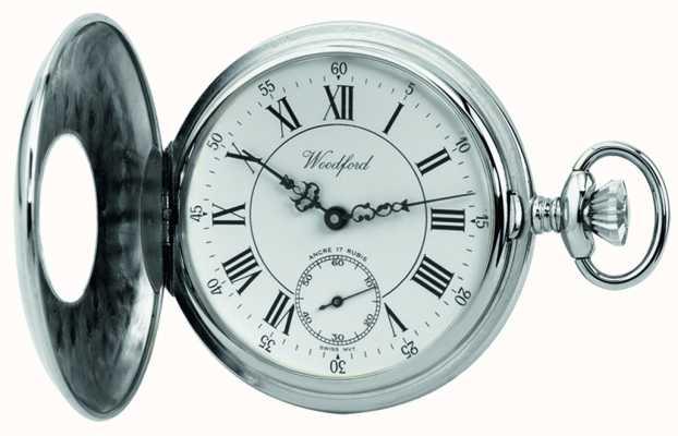 Woodford | pół łowca | chromowane wykończenie | zegarek kieszonkowy | 1011