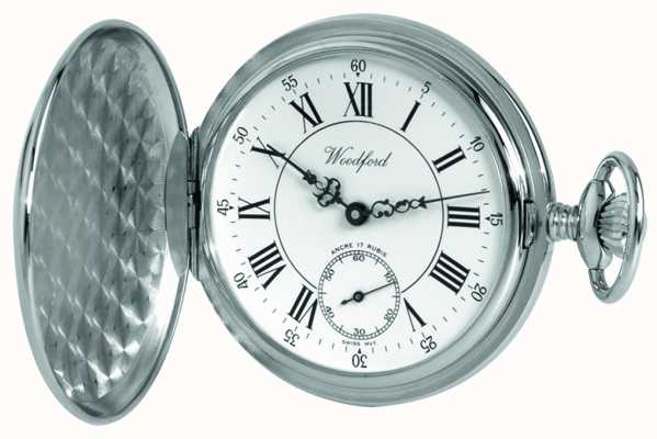 Woodford | pełny łowca | chromowane wykończenie | zegarek kieszonkowy | 1012