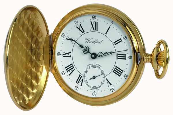 Woodford | pełny łowca | pozłacane | zegarek kieszonkowy | 1009