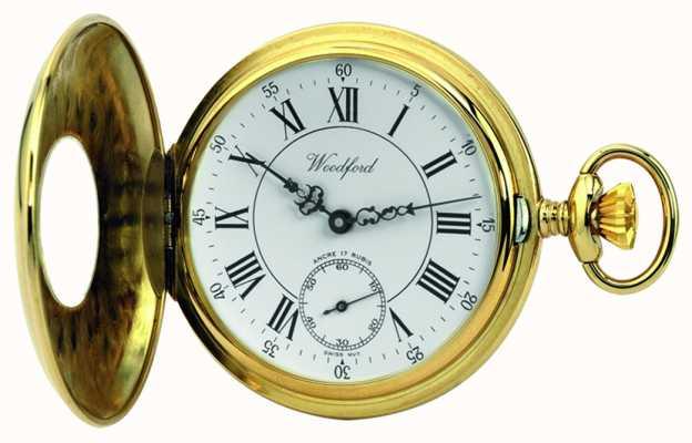 Woodford | pół łowca | pozłacane | zegarek kieszonkowy | 1010