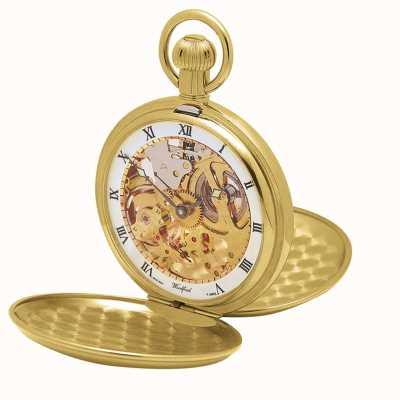 Woodford | szkielet myśliwego | podwójna pokrywa | złota płyta | zegarek kieszonkowy | 1014