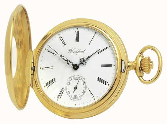 Woodford | pół łowca | pozłacane | zegarek kieszonkowy | 1015