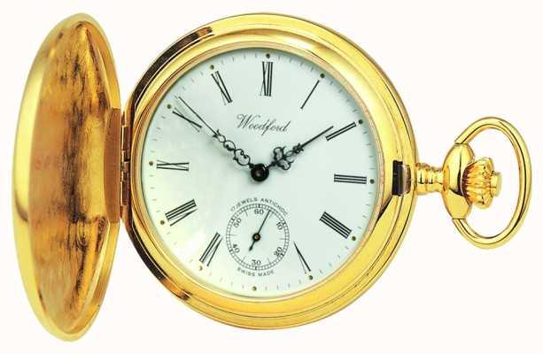 Woodford | pełny łowca | pozłacane | zegarek kieszonkowy | 1016