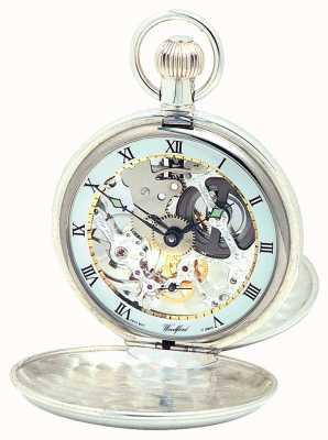 Woodford | szkielet myśliwego | podwójna pokrywa | srebrny | zegarek kieszonkowy | 1002