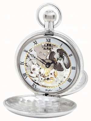 Woodford | szkielet myśliwego | podwójna pokrywa | srebrny | zegarek kieszonkowy | 1003