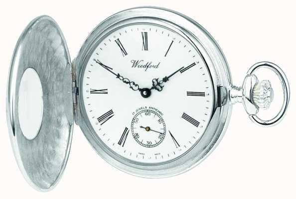 Woodford | pół łowca | srebro | zegarek kieszonkowy | 1004