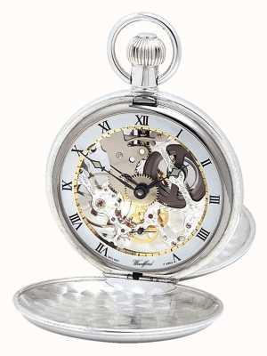 Woodford Srebrny zegarek kieszonkowy z podwójną pokrywą i łańcuchem Albert 1066