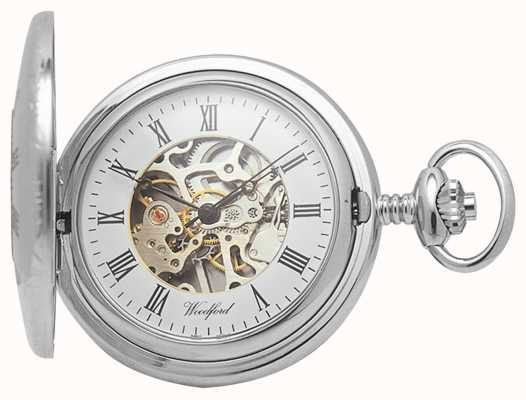 Woodford | pół łowca | chromowany | szkielet | zegarek kieszonkowy | 1020