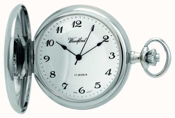 Woodford | pełny łowca | chromowany | zegarek kieszonkowy | 1027