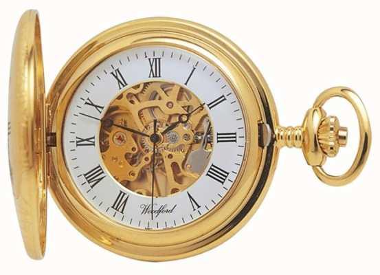 Woodford | pół łowca | pozłacane | szkielet | zegarek kieszonkowy | 1021