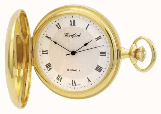 Woodford | pełny łowca | pozłacane | zegarek kieszonkowy | 1028