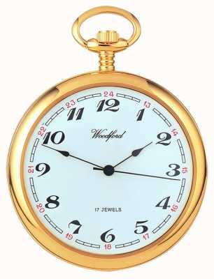 Woodford Arabski pozłacany zegarek kieszonkowy z białym pokrętłem 1031