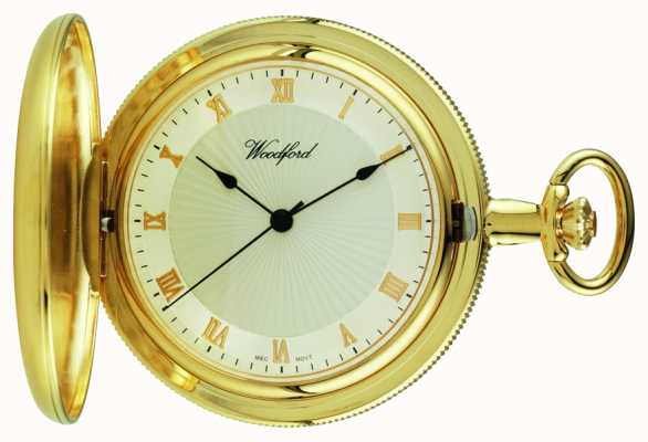 Woodford Złoty kieszonkowy zegarek kieszonkowy z białego złota 1053