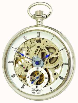 Woodford Zegarek kieszonkowy mechaniczny z białym chromem 1043