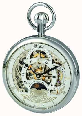 Woodford Zegarek kieszonkowy ze skróconą bransoletką z chromem 1050