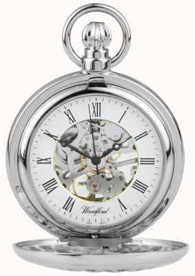 Woodford Zegarek kieszonkowy ze stali szlachetnej, wykonany ze stali nierdzewnej 1052