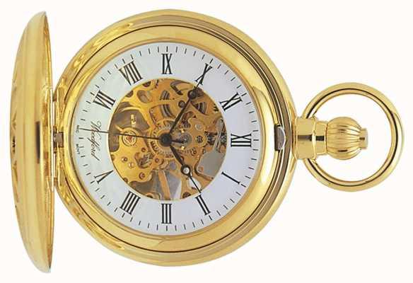 Woodford | szkielet myśliwego | pozłacane wycięcie | zegarek kieszonkowy | 1029