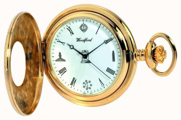 Woodford Męski zegarek kieszonkowy na pół łowcy 1213