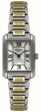 Rotary Dwukolorowy damski zegarek ze złotej blachy i stali nierdzewnej LB02651/41