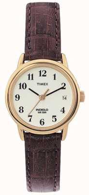 Timex Damski, brązowy, łatwy w obsłudze zegarek T20071