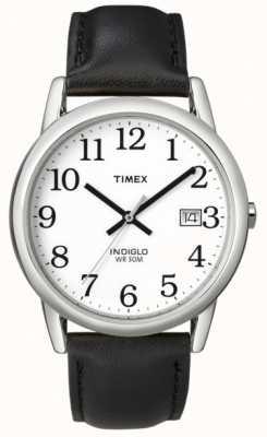 Timex Męski biały czarny łatwy czytelniczy zegarek T2H281