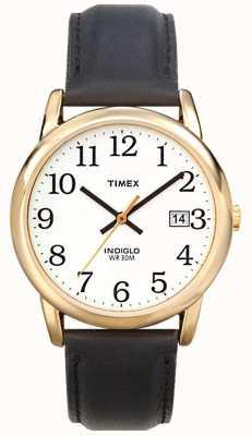 Timex Męski biały czarny łatwy czytelniczy zegarek T2H291