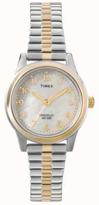 Timex Dwukolorowy damski zegarek ekspandera T2M828