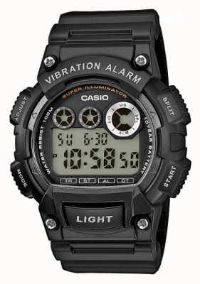 Casio Męski zegarek ostrzegający o wibracjach na czarnym pasku W-735H-1AVEF