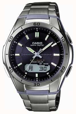 Casio Męski zegarek z czarnej tarczy tytanowej WVA-M640TD-1AER