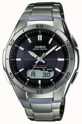 Casio Zegarek męski Wave Ceptor z czarną tarczą WVA-M640TD-1AER