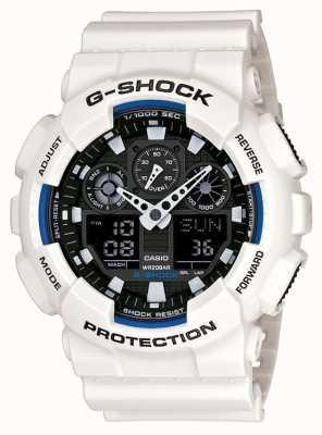 Casio Męski zegarek z żywicy g shock biały GA-100B-7AER