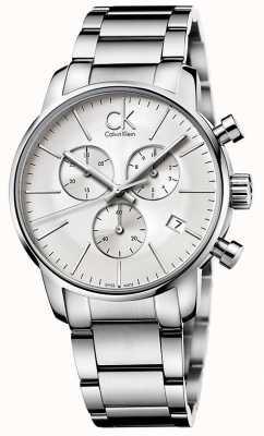 Calvin Klein Chronograf męski miejski ze stali nierdzewnej K2G27146
