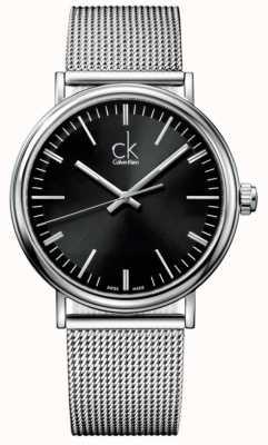 Calvin Klein Męski zegarek z czarną obwódką K3W21121