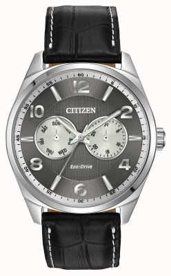 Citizen Męski zegarek ze szarej tarczy ze stali nierdzewnej AO9020-17H