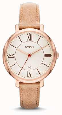 Fossil Damski zegarek z różowej, beżowej, beżowej koronki ES3487