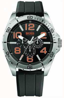 Hugo Boss Orange Męski zegarek ze stali nierdzewnej z czarnym gumowym paskiem 1512945