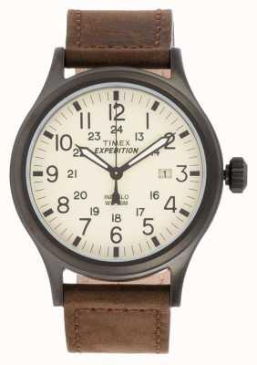 Timex Męski wyprawa scout brązowy zegarek T49963