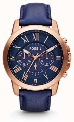 Fossil Męski granatowy zegarek z chronografem FS4835