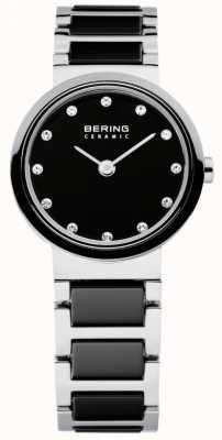 Bering Czas panie czarny i srebrny ceramiczny 10725-742